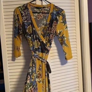 Unique boho dress with an empire waist!